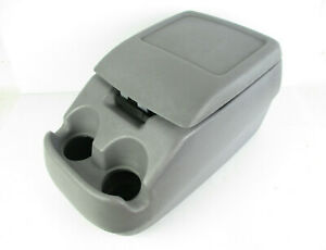 Ford F150 F250 F350 Bronco Center Console Arm Rest Storage Cup Holder Gray 92 96