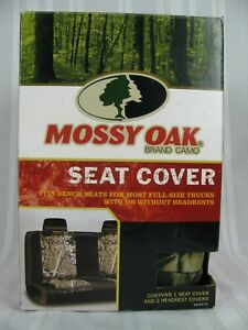 Mossy Oak Universal Camo Camouflage Bench Seat Cover With Headrests New In Box