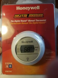 Honeywell Ct8775c The Digital Round Manual Thermostat Heat And Cool Nos