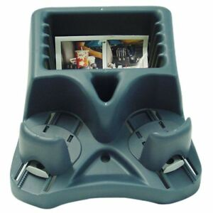 Barjan Blue Spillmaster Compact Car Console With Drink Holder