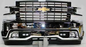 2019 2020 Chevy Silverado 1500 Front Bumper Assembly W Sensors W fog Lights