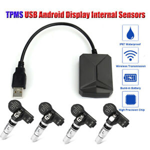 Android Car Tpms Tire Pressure Monitor Alarm System 4 Internal Sensors Ma2117