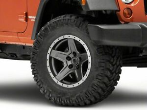 Mammoth Boulder Bead Lock Style Wheel Charcoal 17x9 For Jeep Wrangler Jk 07 18