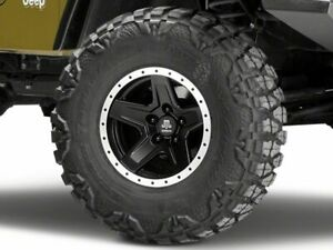 Mammoth Boulder Bead Lock Style Wheel In Black 15x8 Fits Jeep Wrangler Tj 97 06