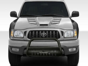 Black Horse Textured Bull Bar With Skid Plate Black Fit 1998 2004 Toyota Tacoma