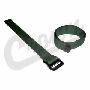 Crown Jerry Can Strap Set Green Nylon Steel For 41 45 Willys Mb Ford Gpw A4127