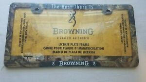 Browning The Best There Is License Plate Frame Brown Camo