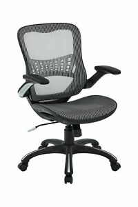 Office Star Mesh Back Seat 2 to 1 Synchro Lumbar Support Managers Chair