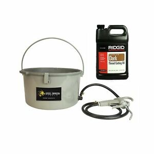 Steel Dragon Tools 418 Handheld Oiler Bucket 10883 And 1 Gallon Of Ridgid Dar