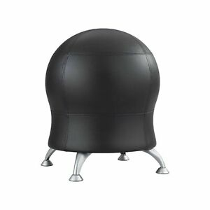 Safco Products Zenergy Ball Chair Black Vinyl Low Profile Active Seating