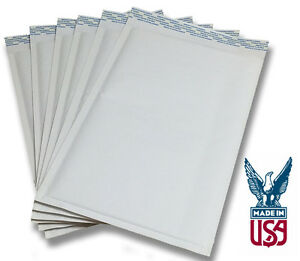 250 Qty Size 00 5x9 Kraft White Bubble Mailers ships Today