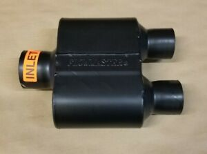 Flowmaster Super 10 Muffler 3 Single Inlet 2 5 Dual Outlet Stainless 6 5 Long