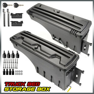 Left Right Truck Bed Storage Box Tool Box For 02 18 Dodge Ram 1500 2500 3500