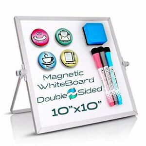 Whiteboard Magnetic Portable For Kids Students Eraser Marker Gift With Stand New
