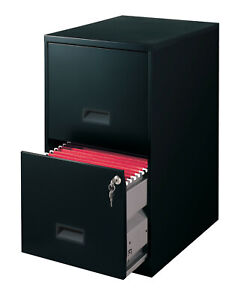 Black 18 2 drawer Metal File Storage Cabinet Organizer Home Office Furniture