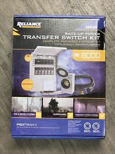 New In Box Reliance Model 306lrk 6 circuit Back Up Power Transfer Switch Kit