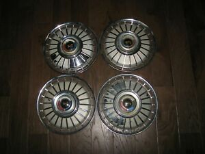 1962 62 Ford Fairlane Galaxie 14 In Hubcaps Wheel Covers Set Of 4 Oem Vintage