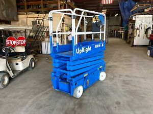 Upright Mx19 Scissor Lift Man Lift Video Walk around operation