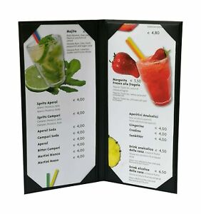 5 Pcs Of Restaurant Wine Menu Covers Holders 4 75 X 11 Inches Double View