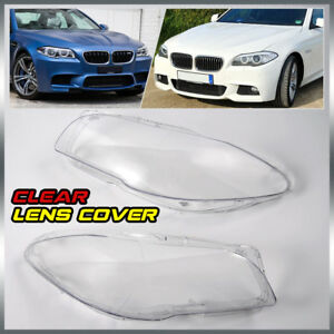 Pair Headlight Clear Cover Lens For 10 14 Bmw 5 series F10 F18 520 523 525 535