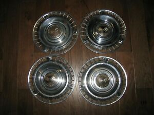 1961 61 Chevy Impala 14 In Hubcaps Wheel Covers Set Of 4 Oem Vintage