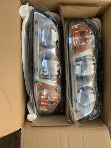 2000 2005 Chevy Impala Pair Of Headlights Headlamps With Led Drl