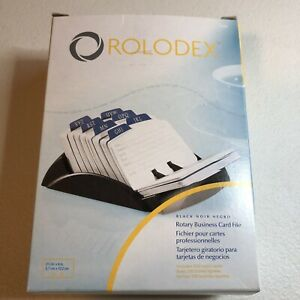 Rolodex Black Rotary Business Card File With 200 Ruled Cards New 67082