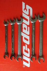 Snap On Tools 5 Pc Sae Open End Flare Nut Wrench Set Rxs605b Ships Free