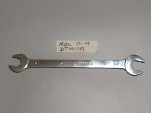 Mac Tools dtm1719 17x19mm Thin Flat Open End Wrench Low Torque ships Free