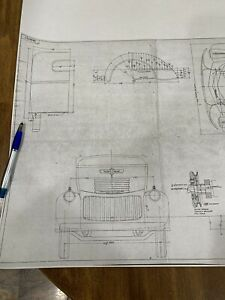 1941 Chevy Cab Over Engine Coe Mechanical Drawing