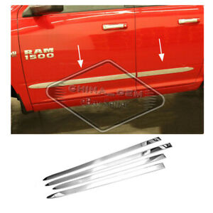 Chrome Side Moldings For Dodge Ram 1500 2009 10 11 2018 Stainless Steel Polished