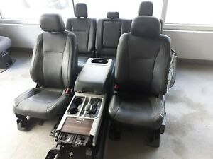 15 Ford F 150 Black Leather Seats Center Console