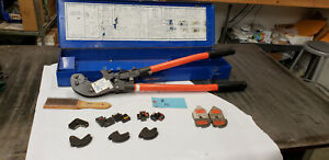 Thomas Betts Tbm6s W 12 Dies Shure stake Ratcheting Crimper W box Brush Lot 15