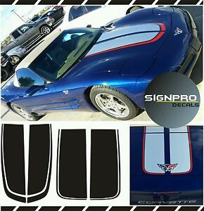 Corvette Chevrolet C5 Racing Stripes Rally Stripes Decal Kit 1997 04 Many Colors
