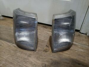 Range Rover P38 Front Clear Turn Signal Parking Lights Pair 1995 To 2002