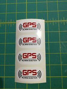 4 Alarm System Gps Tracking Device Vehicle Car Warning Vinyl Sticker Decal
