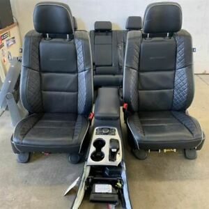 14 19 Grand Cherokee Summit Seat Set Console Oem Black Leather 15k Mi 2138047