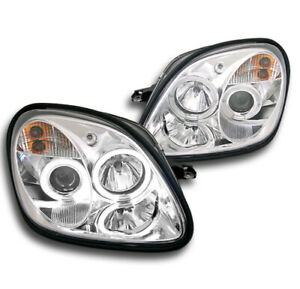 1998 2004 Mercedes Benz R170 Slk Chrome Set Halo Projector Head Lights L R Pair