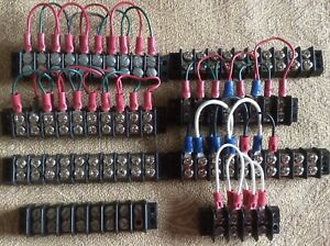 8 Multi Position Electrical Barrier Strips jumper Wires