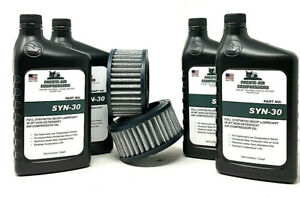 Saylor Beall 707 Air Compressor Maintenance Kit W Synthetic Oil Air Filters