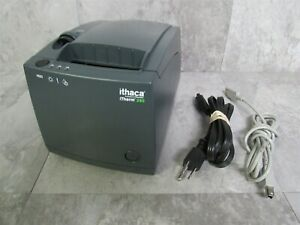 Transact Ithaca Itherm 280 Thermal Receipt Printer W Power Usb Cable