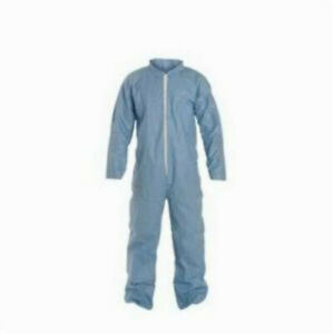 Dupont Tempro Disposable Flame Resistant Coverall Collar M Blue 25 case