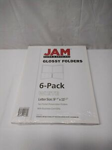 Jam Paper Laminated Two Pocket Glossy Folders Blue 6 pack