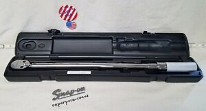 New Snap on Qd3r250a 1 2 Drive Adjustable Click type Ratchet Torque Wrench