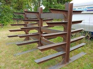 Steel Metal Storage Rack Well Built Strong Heavy Duty Double Sided
