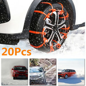 20pcs Anti skid Chain Snow Mud Car Truck Wheel Winter Driving Tire Cable Tie