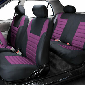 Air Mesh Car Seat Covers For Auto Car Suv Van With 5 Head Rest Covers Purple