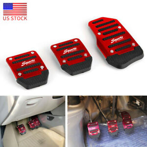 Universal Red Racing Sports Non slip Automatic Car Gas brake Pedal Pads Cover