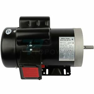 2hp Electric Motor For Air Compressor Single Phase 1750rpm 60hz 115 230v
