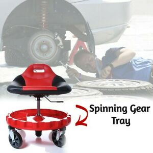 Seat Mechanic Stool Bench Rolling Workshop Garage Tool Heavy Duty Mobile Chair